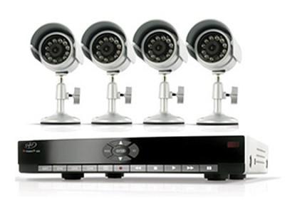 DVR Security System with 4 Indoor/Outdoor Night Vision Surveillance Cameras