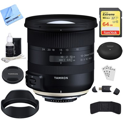 10-24mm F/3.5-4.5 Di II VC HLD Lens (B023) For Nikon + Accessories Bundle