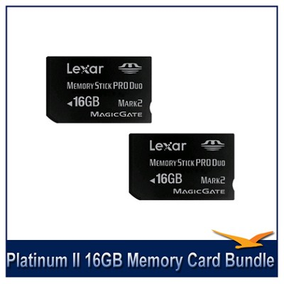 Platinum II 16GB Memory Stick Pro Duo Flash Memory Card Bundle