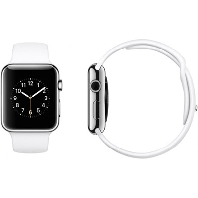 Apple Watch Sport 42mm Silver Aluminum Case - White Sports Band - OPEN BOX