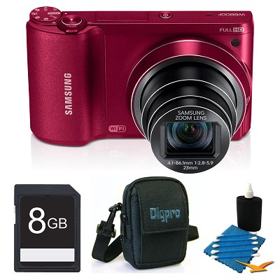 WB800F 16.3 MP Smart Camera with Built-in Wi-Fi 8GB Red Kit