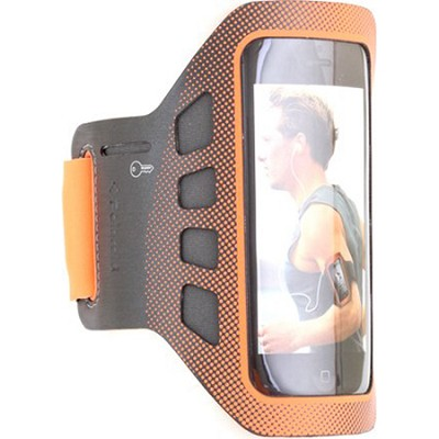 Sports Soft Shell ArmBand for Smartphones in Orange
