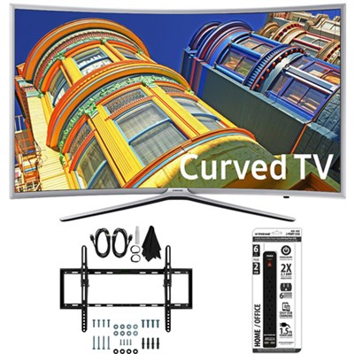 UN55K6250  - Curved 55-Inch 1080p Full HD LED Smart TV w/ Tilt Wall Mount Bundle