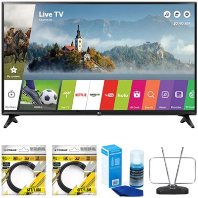 49` Class Full HD Smart LED TV 2017 Model 49LJ5500 with Cleaning Bundle
