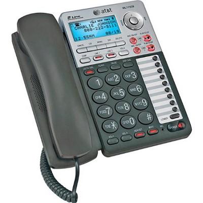 17939 1-Handset 2-Line Speakerphone W/ Caller ID/Digital Answering System