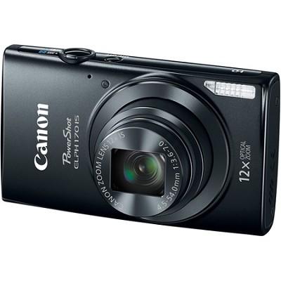 PowerShot ELPH 170 IS 20MP 12x Opt Zoom Digital Camera - Black