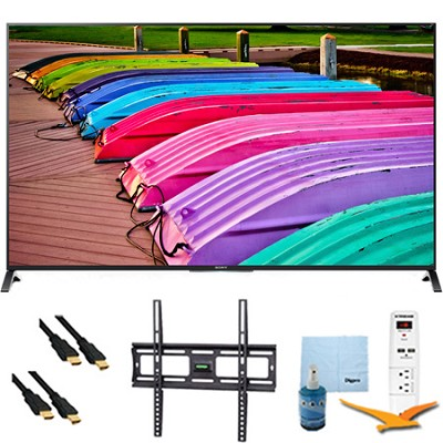 XBR49X850B - 49-Inch 4K Ultra HD 120Hz 3D LED TV Plus Mount & Hook-Up Bundle