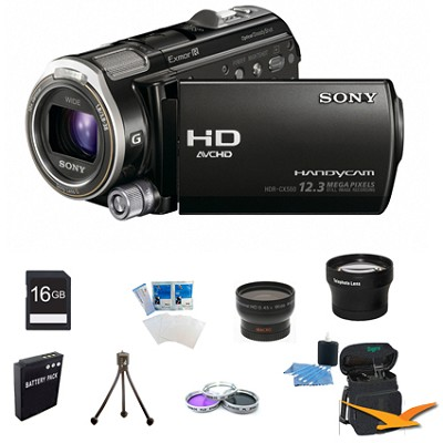HDR-CX560V 64GB Flash Memory Handycam Full HD Camcorder w/ GPS ULTIMATE BUNDLE