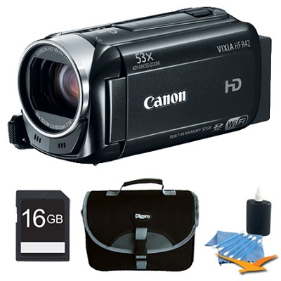 VIXIA HF R42 HD 53x Image Stabilized Opt Zoom Camcorder 32GB Internal + 16GB Kit
