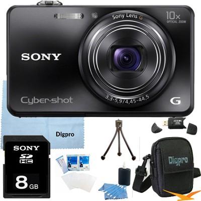 Cyber-shot DSC-WX150 18.2 MP 10x Optical HD Video Camera (Black) 8GB Bundle