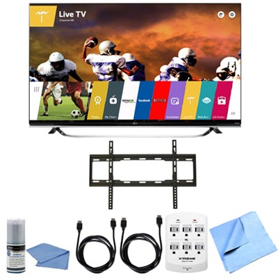 65UF8500 - 65-Inch 2160p 240Hz 3D Ultra HD 4K LED UHD Smart TV Flat Mount Bundle