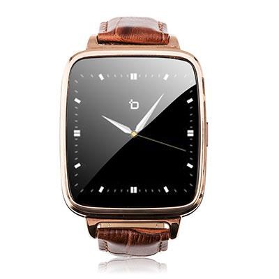 S1G S1 Smart Watch Gold / Brown Leather Strap Android