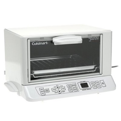 TOB-165 White Convection Oven Toaster Broiler with Exact Heat Sensor
