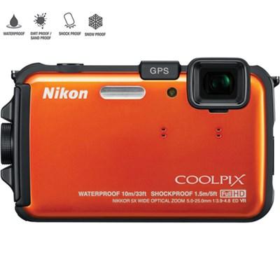 COOLPIX AW100 16MP Waterproof Digital Camera (Orange) - Certified Refurbished