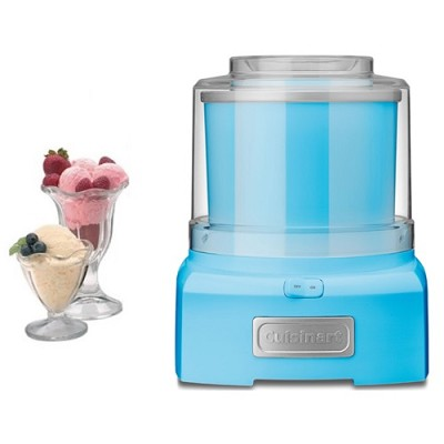 ICE-21 Frozen Yogurt-Ice Cream & Sorbet Maker - Blue - Factory Refurbished