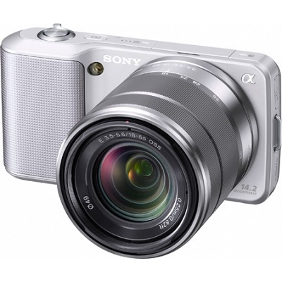 Alpha NEX-3 Interchangeable Lens Silver Digital Camera w/18-55mm Lens