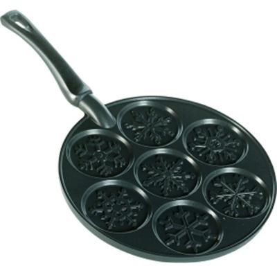 Snowflakes Pancake Pan in Black - 01945