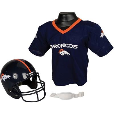 Youth NFL Denver Broncos Helmet and Jersey Set