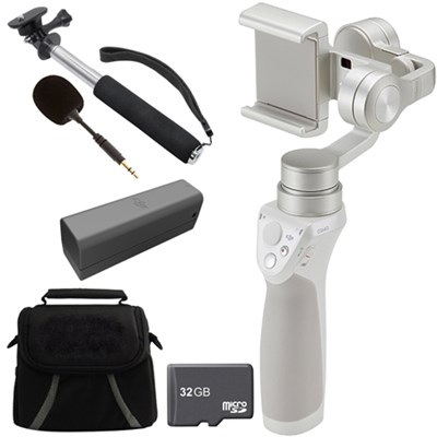 Osmo Mobile Gimbal Stabilizer for Smartphones w/ Professional Bundle - Silver