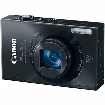 PowerShot ELPH 520 HS Black 10.1 MP CMOS Digital Camera 12x Optical Zoom