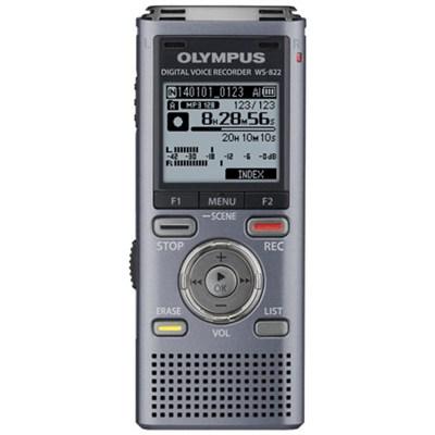 WS-822 Digital Voice Recorder, 4GB Gray - OPEN BOX