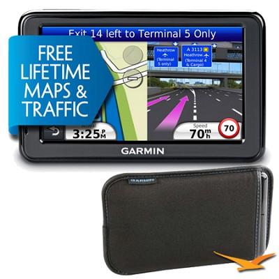 nuvi 2595LMT 5` GPS w/ Bonus Carry Case - Factory Refurbished w/ 1 year Warranty