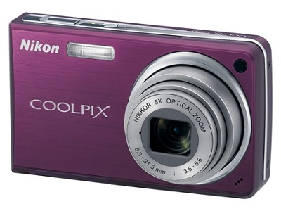 Coolpix S550 10MP 5x Zoom Digital Camera (Plum)