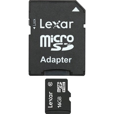 16GB microSDHC Mobile w/ adapter  (Secure Blister) Class 10
