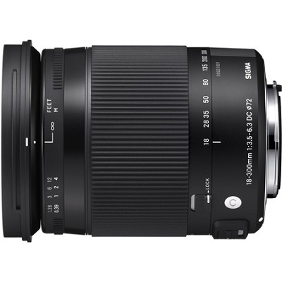 18-300mm F3.5-6.3 DC Macro OS HSM Lens (Contemporary) for Canon EF Cameras