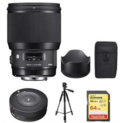 85mm F1.4 DG HSM Art Canon - 321954 with Sigma USB Dock Bundle