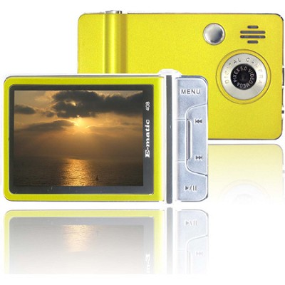 4 GB MP3 Video Player with 2MP Camera and Video Recording (Yellow)
