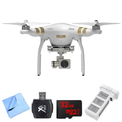 Phantom 3 Professional Quadcopter Drone with 4K Camera + Extra DJI Battery Kit