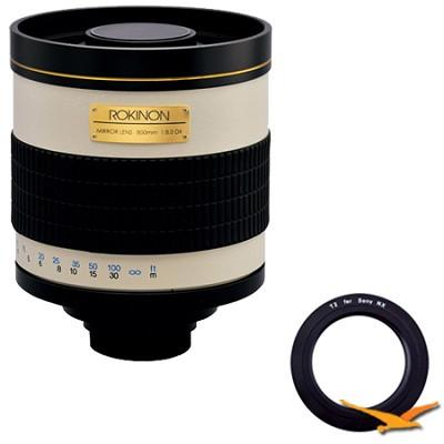 800mm F8.0 Mirror Lens for Sony E-Mount (NEX) (White Body) - 800M