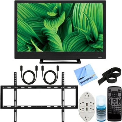 D24hn-E1 D-Series 24` Class Edge-Lit LED TV + Ultimate Wall Mount Bundle