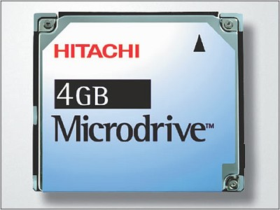 4Gig. HITACHI MicroDrive Kit {W/ PCMCIA Adapter}