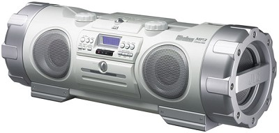 RV-NB10W Kaboom Portable CD/MP3 Boombox w/ Subwoofer System (White)