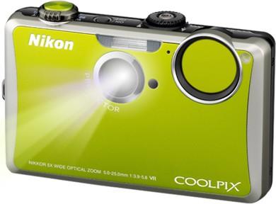 COOLPIX S1100pj Green 14MP Digital Camera w/ Projector