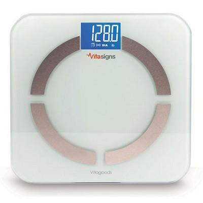 Bluetooth Digital Body Analyzer Scale, Black Glass - White