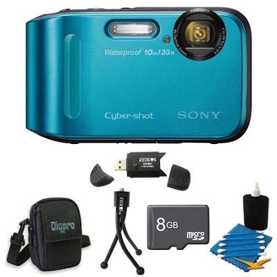 Cyber-shot DSC-TF1 16 MP 2.7-Inch LCD Waterproof Digital Camera Blue Kit