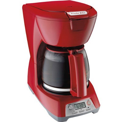 Programmable 12-Cup Coffeemaker - Red