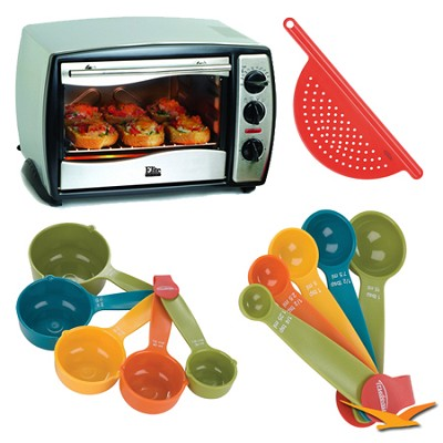 ETO-180 Elite Gourmet Toaster Oven Bundle