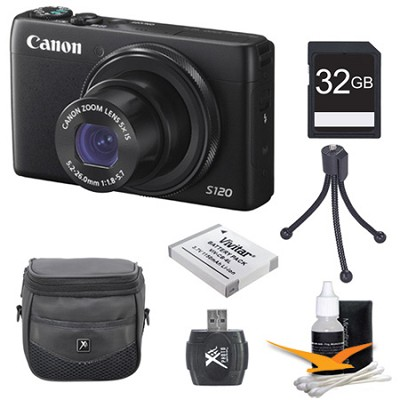 PowerShot S120 12.1MP Digital Camera 32GB Kit