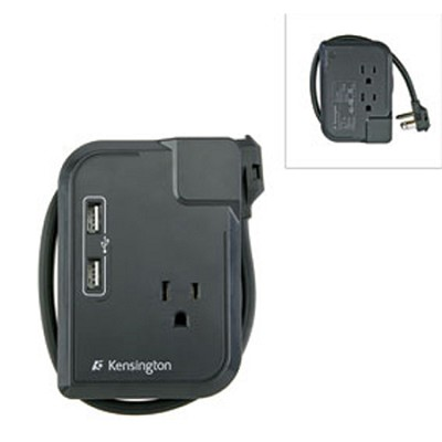 K38032US - Portable Power Outlet with 3 Wall Outlets and 2 USB Power Ports