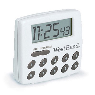Digital Timer - White