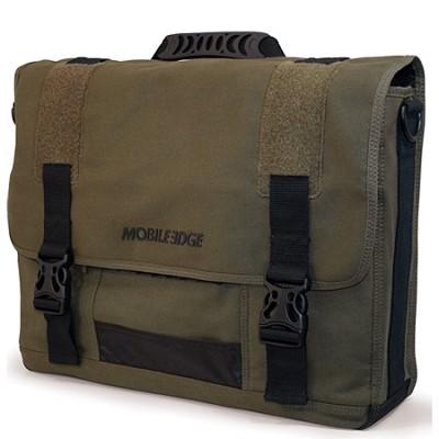 Eco-Friendly Cotton Canvas Olive 17.3` Notebook Messenger Bag