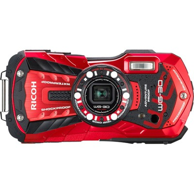 WG-30 16 MP Waterproof Digital Camera with 3-Inch LCD - Vermillion Red