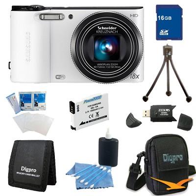 16 GB Bundle WB150F 14 MP 18X Wi-Fi Digital Camera - White