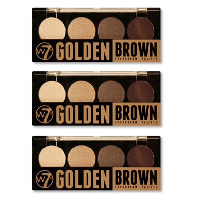 Quad-Eyeshadow Palette Golden Brown - 3 Pack
