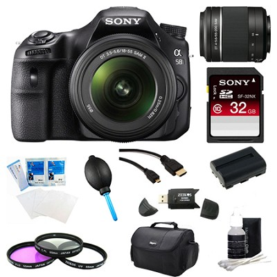 Alpha SLT-A58K Digital SLR Camera 32 GB 55-200mm Lens Bundle