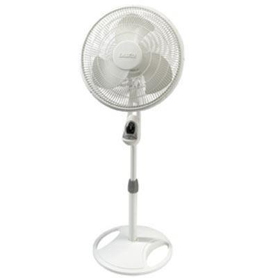 16` Oscillating Stand Fan Wht
